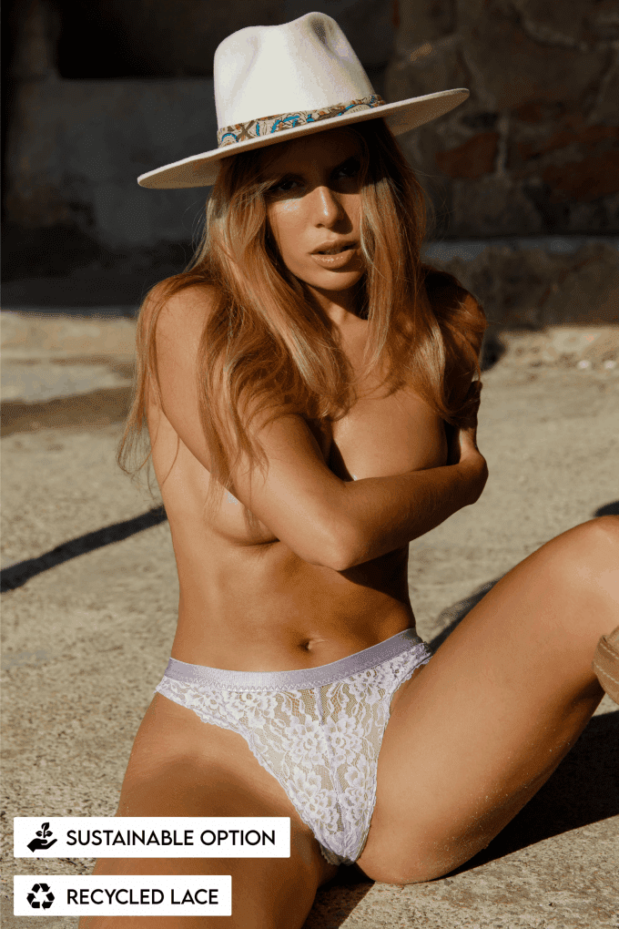 slip thong string kant lace duurzaam recycled lingerie ondergoed amsterdam sustainable ibiza lila
